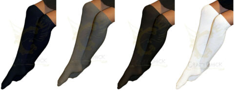 Girls Knee High Plain Long Socks Back To School 12 Pairs White Black Navy Grey