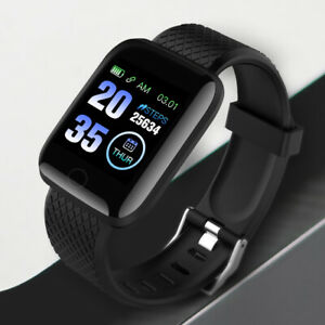Hommes-Smart-Watch-Bluetooth-Frequence-Cardiaque-pression-sanguine-Fitness-Activity-Tracker-UK