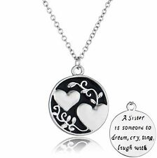 Black & Silver Necklace for Sisters Daughter Women Best Friend Gifts for Her