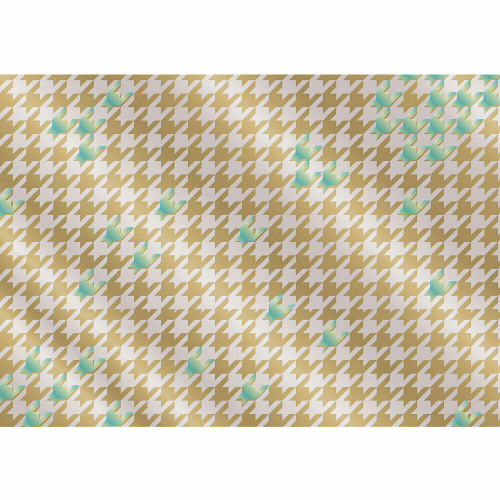 Photo Wall Paper Abstract Characters Pattern bluee Beige gold Liwwing No. 359