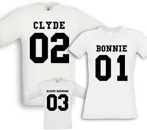 familiari Clyde partner Birthday Robber Fun Little Bonnie Camicie per Christening RIEUAqI4