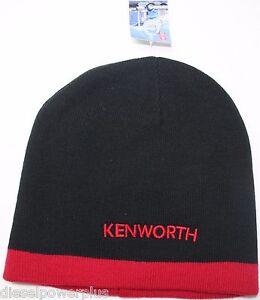 Kenworth Beanie Stocking cap hat truck toboggan ski red black semi ... 183cde3db04e