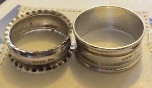 2-x-Antique-Solid-Silver-Hallmarked-Serviette-Rings-1903-amp-1920