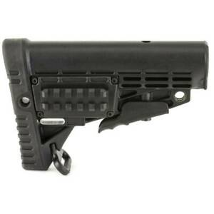 AIRSOFT-PAINTBALL-railed-with-compartment-STOCK-black-ASG-AEG-FBP4006