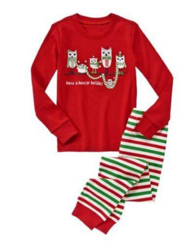 NWT Gymboree Have A Hootin/' Holiday OWL 2-Piece Christmas Pajamas Boys Girls 3 5