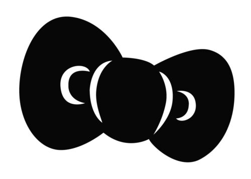 "x2 Hello Kitty Big Bow B1 ribbon Logo Decal Sticker Car sweet cute graphic 6x4/"""