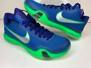 d6aed59aca4 Nike Kobe 10 X Emerald City Seahawks Deep Royal Silver-Green 705317 ...