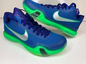 1e47d47130d1 Nike Kobe 10 X Emerald City Seahawks Deep Royal Silver-Green 705317 ...