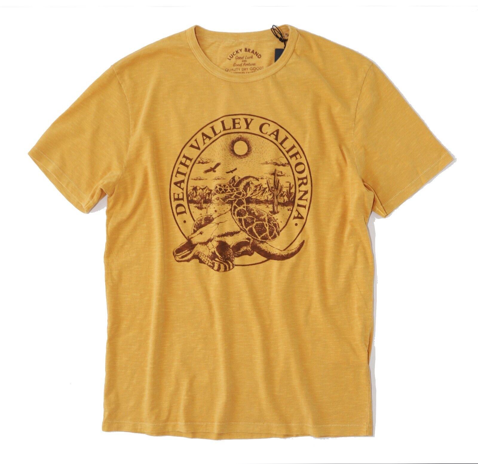 Lucky Brand - Herren XXL - Nwt - Vintage Gelb Death Valley California T-Shirt
