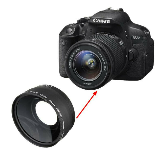 [NEW] 58MM 0.45x Wide Angle Macro Camera Lens for Canon EOS 350D 400D 450D 500D