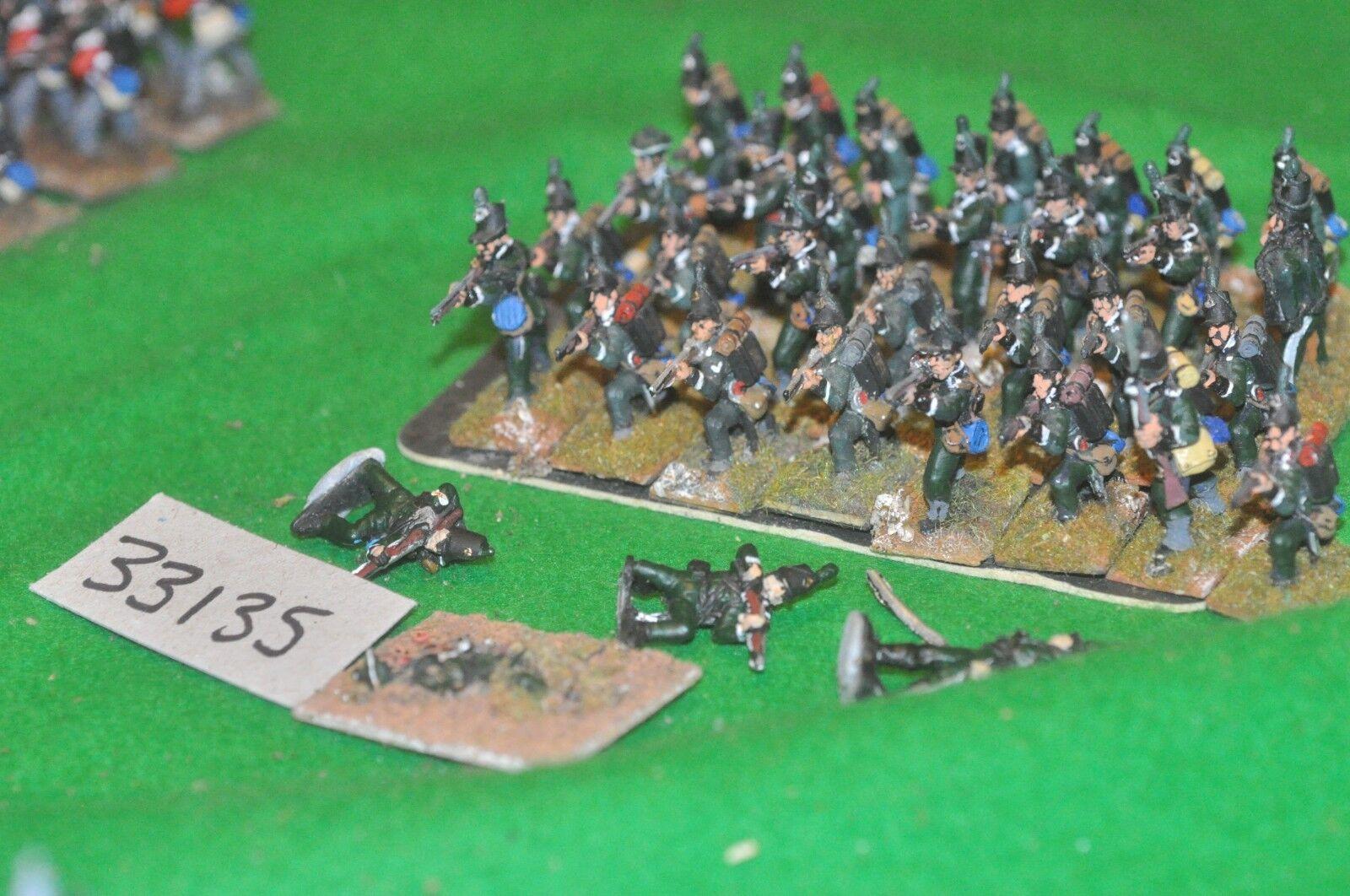 25mm napoleonic   british - 95th rifles 32 figures - cav (33135)