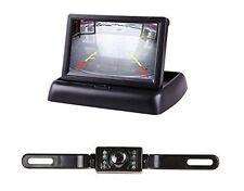 "4.3"" Foldable LCD Display Monitor+IR License Plate Rear View Reversing Camera"