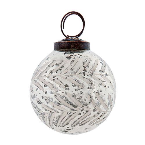 Clayre /& FED boules gl2104 paysans Argent argent décorations Balle