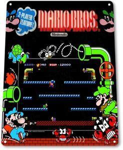 Mario-Bros-Classic-Arcade-Marquee-Game-Room-Man-Cave-Wall-Decor-Metal-Tin-Sign