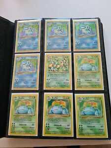 Pokemon WOTC Vintage Collection Lot 1. Edition Base Set Neo Turtok BISAFLOR Raichu