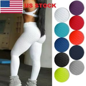 US-Ladies-Yoga-Gym-Anti-Cellulite-Compression-Leggings-Butt-Lift-Elastic-Pants