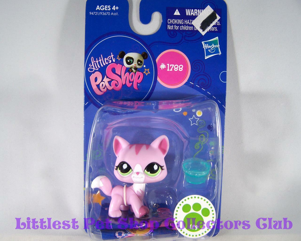 Littlest Pet Shop Single Pink Mauve CAT bluee Eyes lot Rare Retired NIB