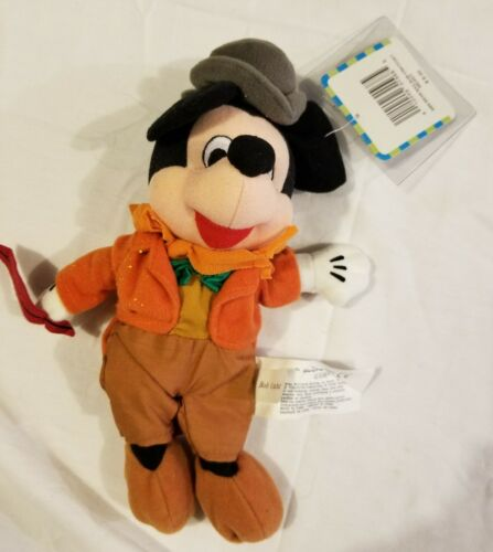 Rare Bob Crachit Mickey Mouse Mini Bean Bag Plush Toy Disney Store NWT NEW