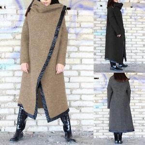 ZANZEA-Womens-Casual-Loose-Long-Trench-Coat-Jacket-Winter-Warm-Overcoat-Outwear