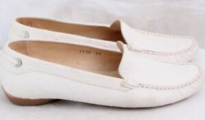6 Ostrich Women's Loafer Toe Tremp u Italy 5 Driving s 1210 White Moc Euro 37 OfAnFxqtn