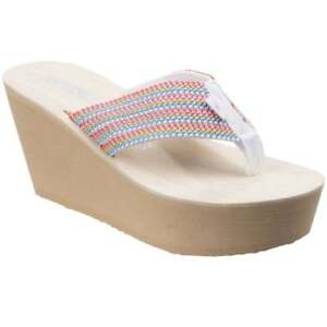 715827265ce Image is loading Rocket-Dog-Diver-Groovy-Stripe-Womens-Wedge-Sandals