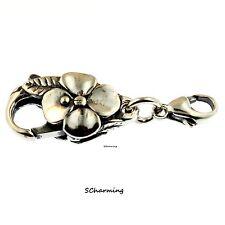 Authentic Trollbeads Silver Big Flower Lock 10101