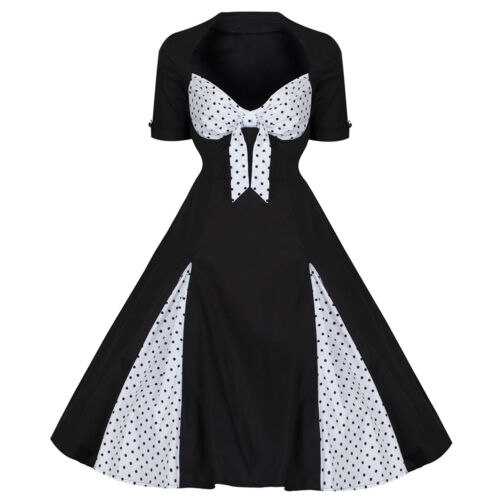 Pin Pois Rockabilly Noires Vintage Style 50 Up Années Blanches À ZPB6aqn