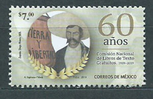 Mexico Mail 2019 Yvert 3139 MNH 60 Years Commission Nacional Books Of Text