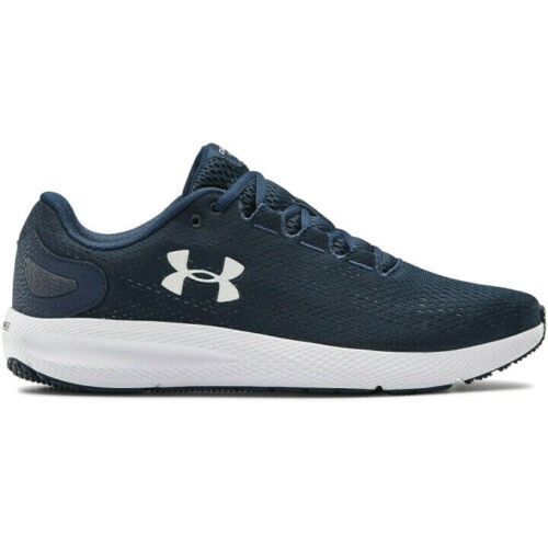 NIB Under Armour 3022594 401 Mens Charged Pursuit 2 Training Running Navy Shoes