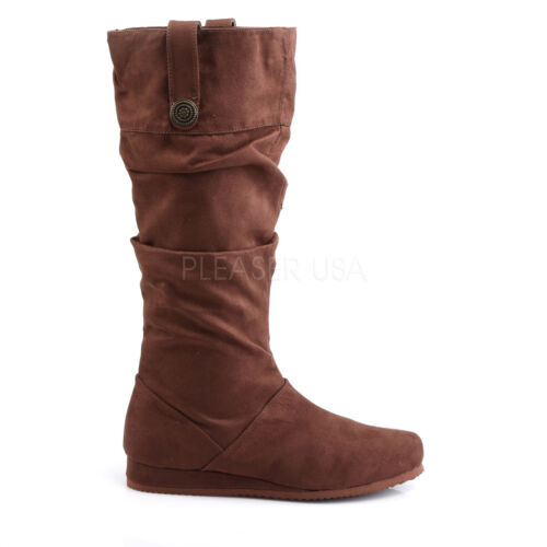 Funtasma Brown Microfiber Renaissance Faire Calf Boots Cosplay Costume Mens 8-14