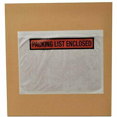 Qty 50 Clear Packing List// Postage Shipping Label Envelopes 7x5.5 Self Adhesive