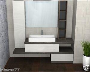 Mobile da bagno b vari colori l top pietra specchio e