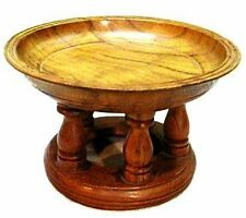 Thai Amulet Wood Tray Buddhism Worship Offering Pedestal to Buddha Altar 5 Inch