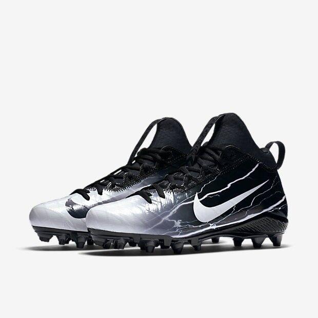 82681f568  125 NIKE Mens 10 Field General 3 ELITE TD Lightning Football Cleats  847095-010