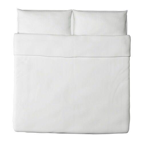DVALA Duvet StKunstseite and pillowcase(s), Weiß, König