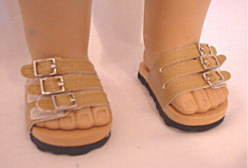 Sandals Tan For 18 in American Girl Doll Shoes Accessories Clothes