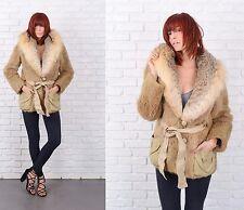 Vintage 70s Fox Fur Coat Fur Jacket Leather Mod Small Medium S M