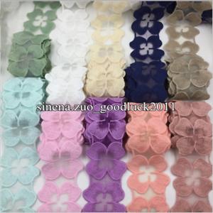 1-Yard-Flower-Lace-trim-lace-ribbon-Headband-cotton-Lace-Trim-Ribbon-Sewing-FL11