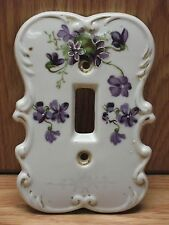 Vintage Glass Light Swtch Cover - Hand Painted - Japan