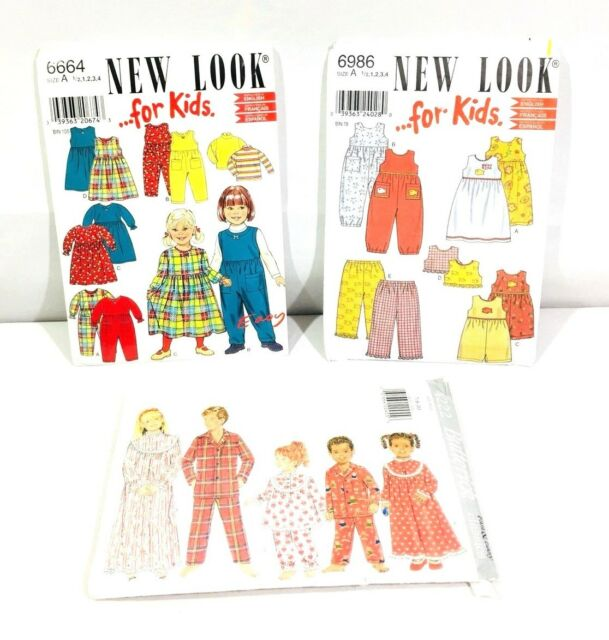 17745b7b63 Buy Simplicity   Butterick Sewing Pattern Children s Pajamas Rompers Pants  Dresses online