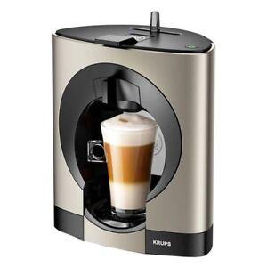 krups nescafe dolce gusto oblo kapsel kaffeemaschine titan kp110t manuell ebay. Black Bedroom Furniture Sets. Home Design Ideas