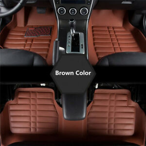 5x-Universal-Car-Auto-Floor-Mats-FloorLiner-Front-amp-Rear-Carpet-All-Weather-Mats-X