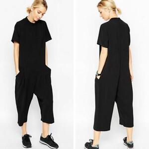 f371c8fdb1db1 Details about Fashion Women Short Sleeve Loose Harem Jumpsuit Pants  Trousers Plus Size JJ