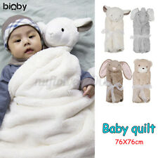 US Animal Head Newborn Baby Infant Sleeping Bag Velvet Quilt Wrap Warm Blanket