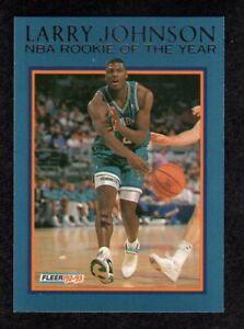 1992-93-Fleer-6-Larry-Johnson-Rookie-Of-The-Year-Charlotte-Hornets-Insert-Card