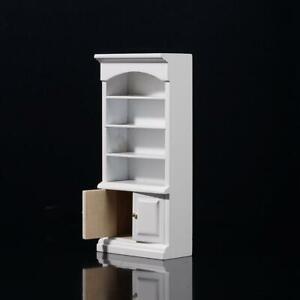 Puppenhaus-Miniatur-Weiss-amp-Lila-Badezimmer-Regal-Schrank-Skala-Zoll-1-12-X5F9