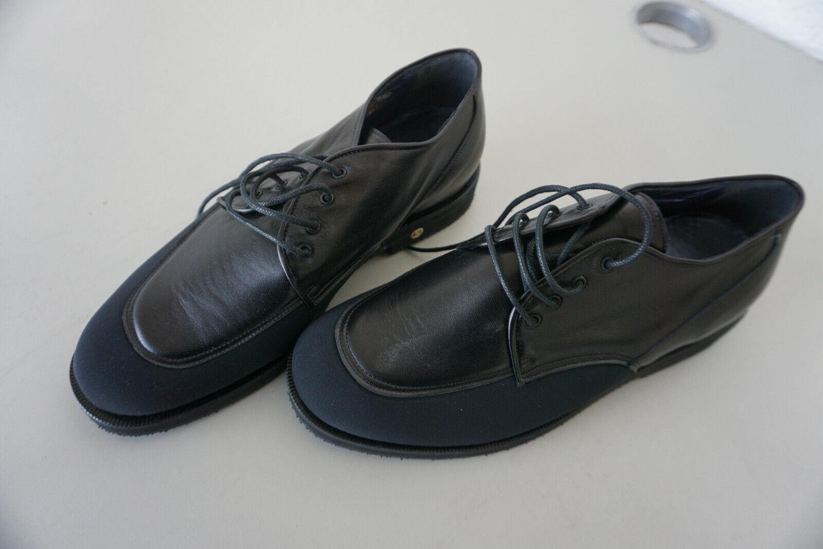 Leichte orthopädische MOLLITER Damen Schnür Schuhe Gr.43 Schwarz Leder NEU