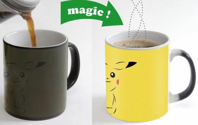 Pickachu Color Changing Magic Heat sensitive Tea Cup Coffee Mug gift 239