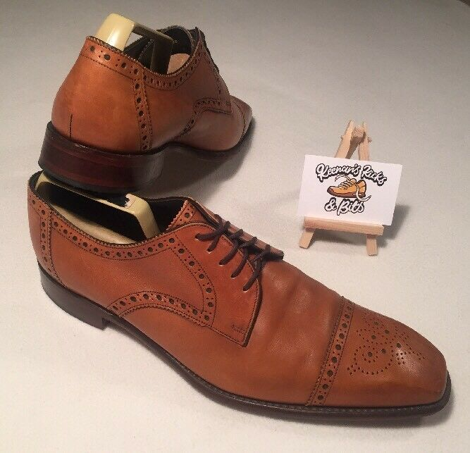 Loake 1880 Premium Collection Byron Brogue Tan Brown Leather shoes WEDDING