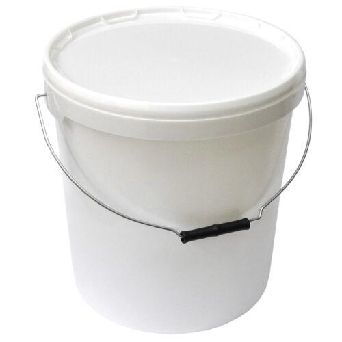 1 Stück 20 Liter Eimer mit Deckel Plastikeimer Kunststoffkübel  Wassereimer Fass